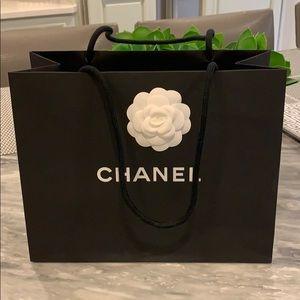 Chanel beautiful black logo bag